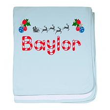 Baylor, Christmas baby blanket