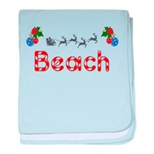 Beach, Christmas baby blanket