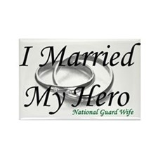 I Married My Hero, NG WIFE Rectangle Magnet