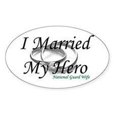 I Married My Hero, NG WIFE Oval Decal