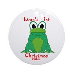Liam's 1st Christmas 2005 Ornament (Round)