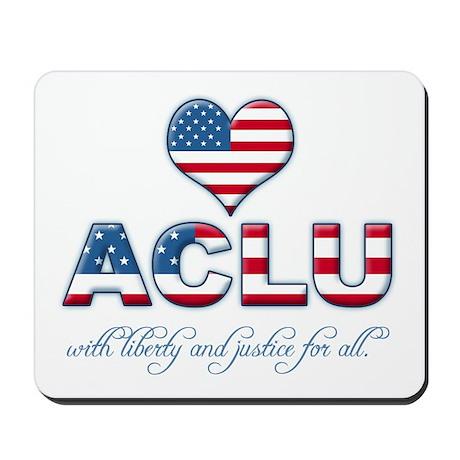 I <3 ACLU Mousepad