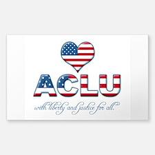 I <3 ACLU Sticker (Rectangular)