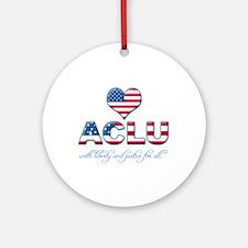 I <3 ACLU Ornament (Round)