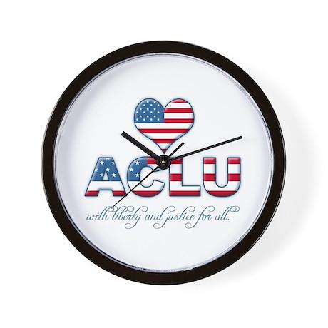 I <3 ACLU Wall Clock