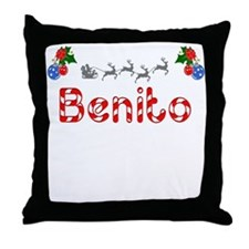 Benito, Christmas Throw Pillow