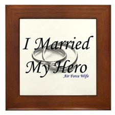 I Married My Hero, AIR FORCE WIFE Framed Tile