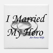 I Married My Hero, AIR FORCE WIFE Tile Coaster