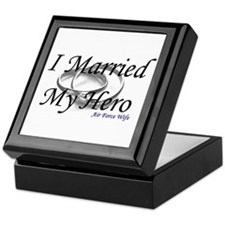 I Married My Hero, AIR FORCE WIFE Keepsake Box