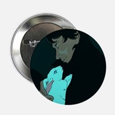 """Sherlock and Bluebell 2.25"""" Button"""