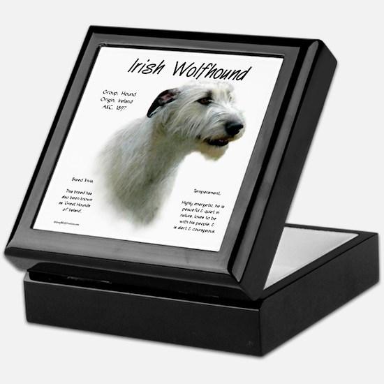 Irish Wolfhound (white) Keepsake Box