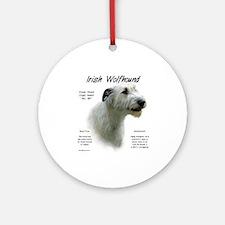 Irish Wolfhound (white) Round Ornament