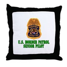 Border Patrol Pilot Throw Pillow