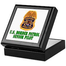 Border Patrol Pilot Keepsake Box