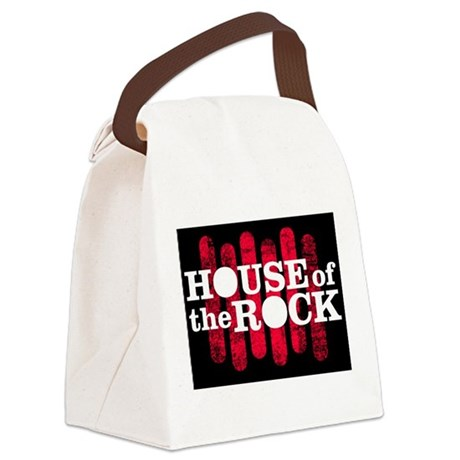 """""""House of the Rock"""" Logo Canvas Lunch Bag"""