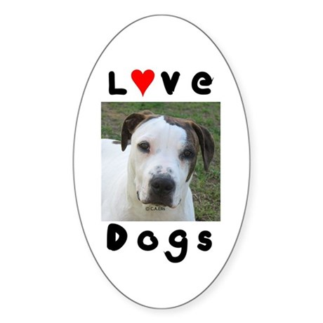 Love Dogs, Our Little Rascal Oval Sticker