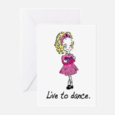 Live to Dance  Greeting Cards (Pk of 10)