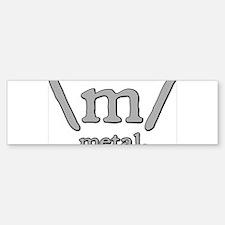M FOR METAL Bumper Bumper Sticker