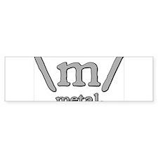 M FOR METAL Bumper Sticker