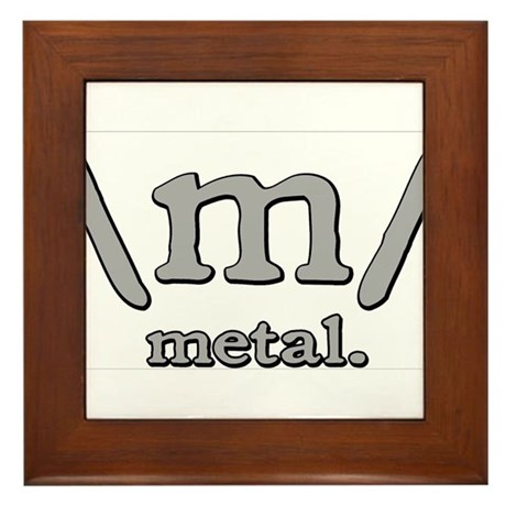 M FOR METAL Framed Tile