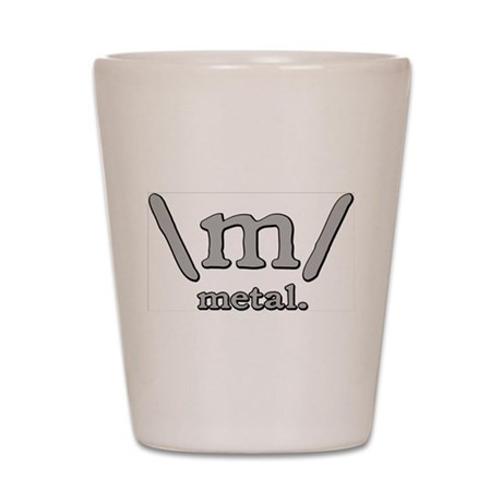 M FOR METAL Shot Glass