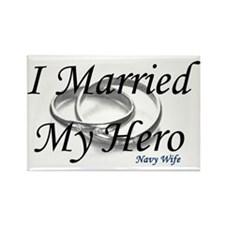 I Married My Hero, NAVY WIFE Rectangle Magnet