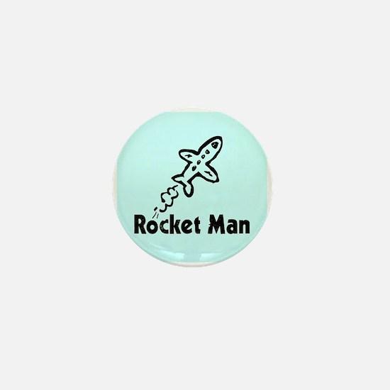 Rocket Man Mini Button