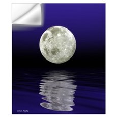 Moon over water Wall Decal