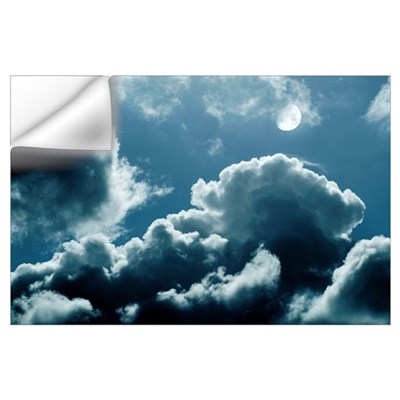 Moonlit clouds Wall Decal