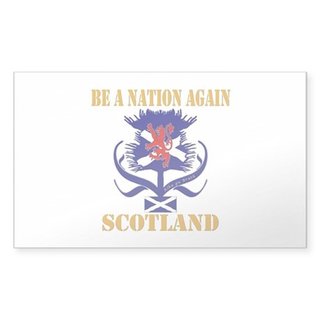 Be a nation again Scotland Sticker (Rectangle)