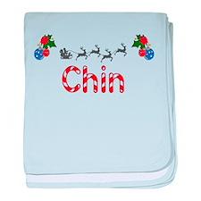 Chin, Christmas baby blanket