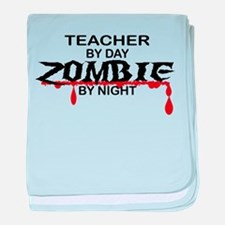 Teacher Zombie baby blanket