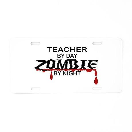 Teacher Zombie Aluminum License Plate