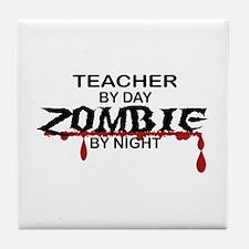 Teacher Zombie Tile Coaster