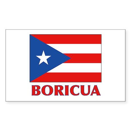 Puerto Rico - PR Sticker (Rectangle)