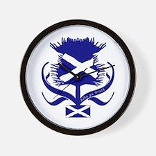 Scottish Navy Blue Thistle Wall Clock