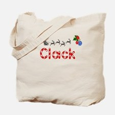 Clack, Christmas Tote Bag