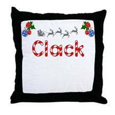 Clack, Christmas Throw Pillow