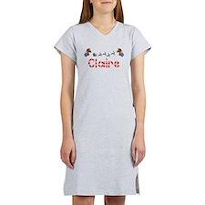 Claire, Christmas Women's Nightshirt