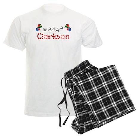 Clarkson, Christmas Men's Light Pajamas