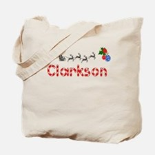 Clarkson, Christmas Tote Bag