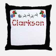 Clarkson, Christmas Throw Pillow