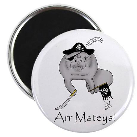 Pirate Manatee Magnet