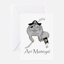 Pirate Manatee Greeting Cards (Pk of 10)
