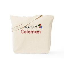 Coleman, Christmas Tote Bag