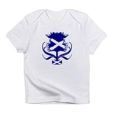 Scottish navy blue thistle Infant T-Shirt