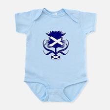 Scottish navy blue thistle Infant Bodysuit