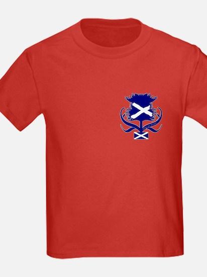 Scottish navy blue thistle T