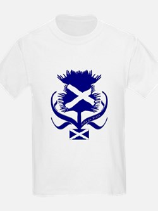 Scottish navy blue thistle T-Shirt