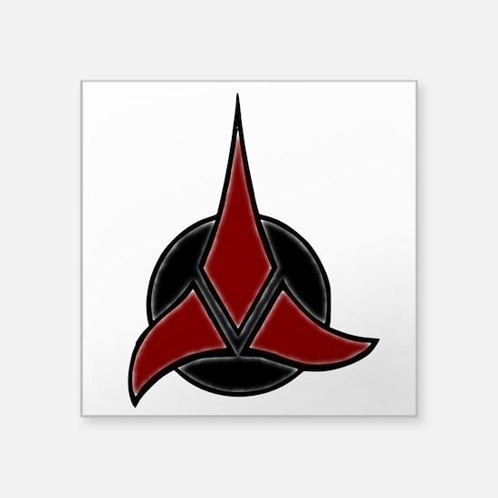 "Klingon Badge 2 Square Sticker 3"" x 3"""
